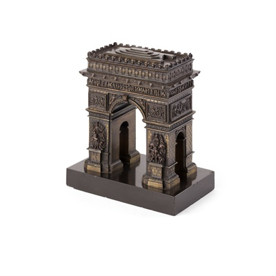 Lot 54 - FRENCH BRONZE MODEL OF THE ARC DE TRIOMPHE