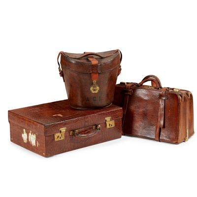 Lot 75 - GROUP OF LEATHER CASES AND ACCESSORIES