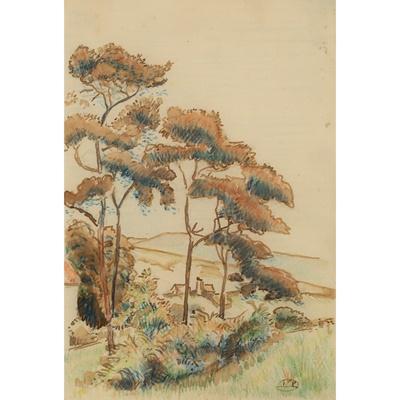 Lot 8-Lucien Pissarro (French/British 1863-1944)