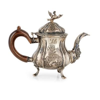 Lot 244 - A central European miniature teapot