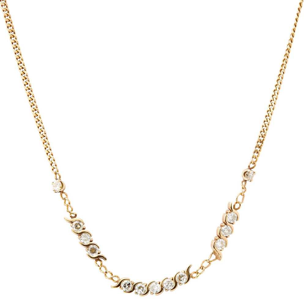 Lot 9-A diamond set necklace