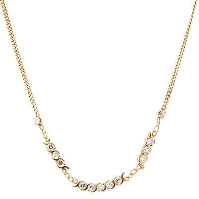 Lot 9-A diamond set necklace