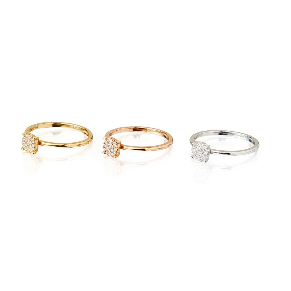 Lot 28-A set of three stacking rings