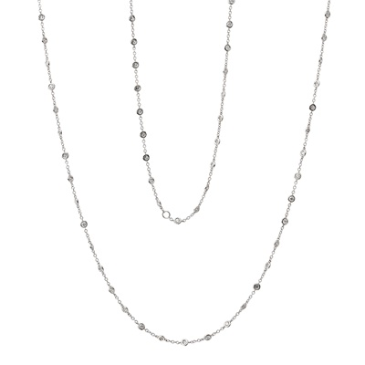 Lot 19-A diamond set long chain