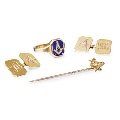 Lot 60-A collection of Masonic items