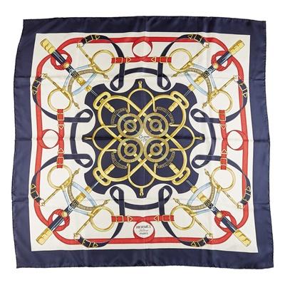 Lot 164 - A patterned silk scarf, Hermes