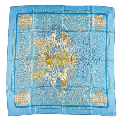 Lot 165 - A patterned silk scarf, Hermes