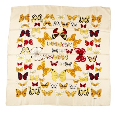 Lot 163 - A silk patterned scarf, Gucci