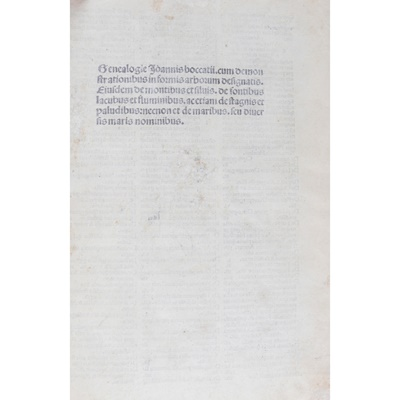 Lot 30-[Incunable] Boccaccio, Giovanni