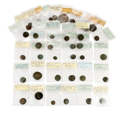 Lot 240 - A collection of base metal Roman coinage