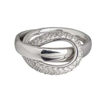 Lot 38-A contemporary diamond set ring