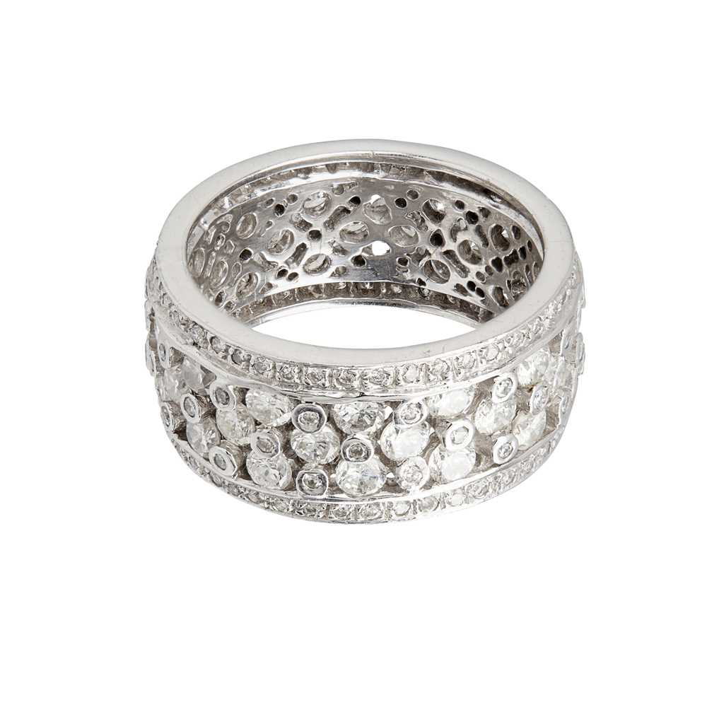 Lot 25-A diamond set eternity ring