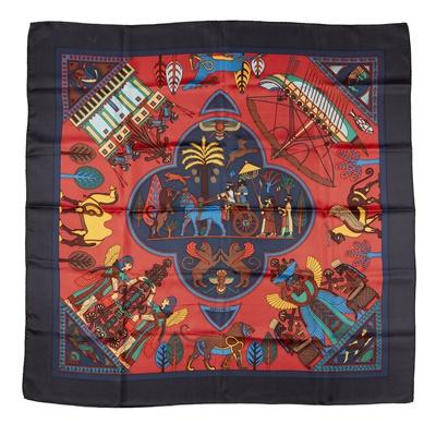 Lot 166 - Two silk patterned scarves, Hermès