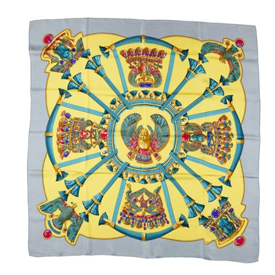 Lot 167 - Two silk patterned scarves, Hermès