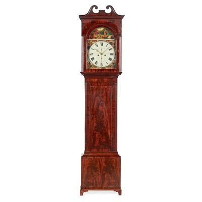Lot 8 - A MAHOGANY AND EBONY STRUNG LONGCASE CLOCK BY A. MITCHELL & SON, GLASGOW