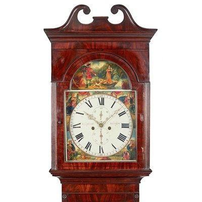 Lot 8-A MAHOGANY AND EBONY STRUNG LONGCASE CLOCK BY A. MITCHELL & SON, GLASGOW