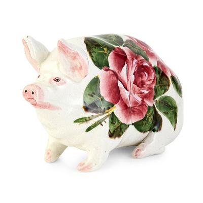 Lot 112 - A SMALL WEMYSS WARE PIG