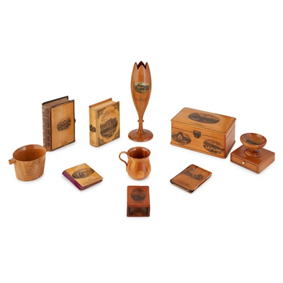 Lot 44-A GROUP OF MAUCHLINE WARE