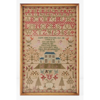 Lot 10 - A NEEDLEWORK SAMPLER