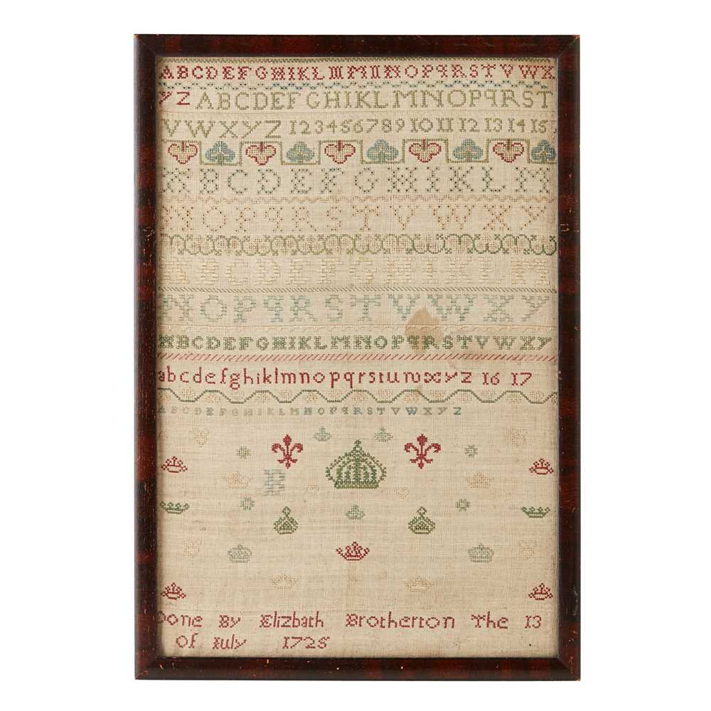 Lot 13 - A NEEDLEWORK SAMPLER