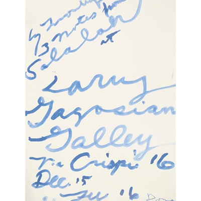 Lot 102 - CY TWOMBLY (AMERICAN 1928-2011)