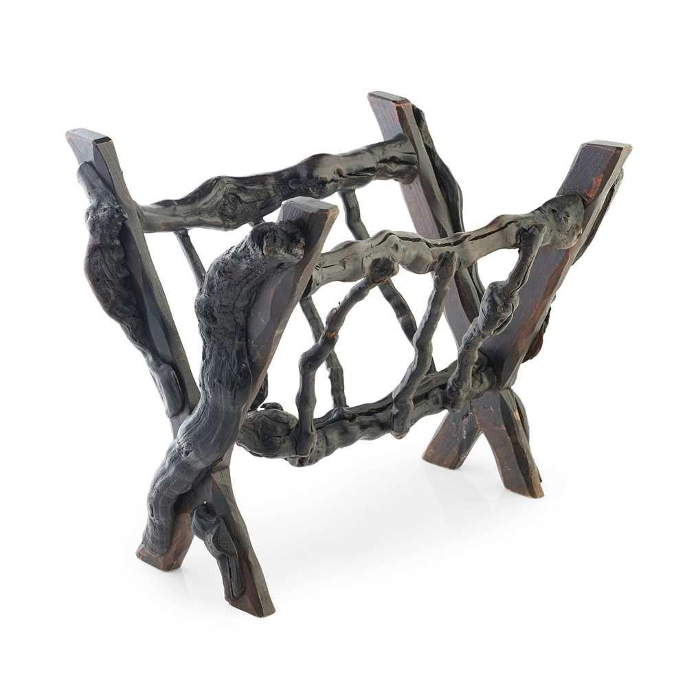 Lot 19 - A SCOTTISH BOG OAK MAGAZINE RACK