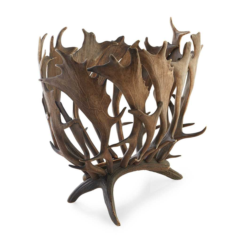 Lot 21 - A SCOTTISH ANTLER MAGAZINE RACK