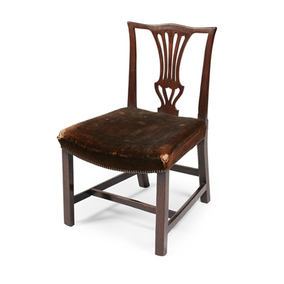 Lot 9 - A SCOTTISH GEORGE III LABURNUM SIDE CHAIR
