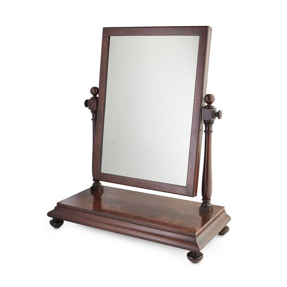 Lot 4-A SCOTTISH VICTORIAN MAHOGANY TOILET MIRROR BY JAMES MEIN, KELSO