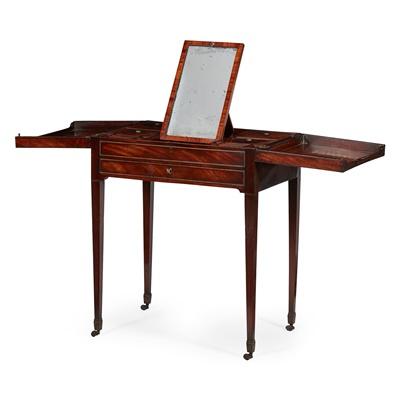 Lot 42 - GEORGE III MAHOGANY DRESSING TABLE