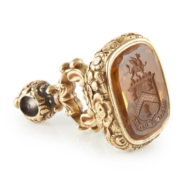 Lot 178 - A large 19th century fob seal