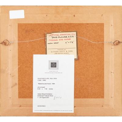 Lot 24 - DAVID MCCLURE R.S.A., R.S.W. (SCOTTISH 1926-1998)