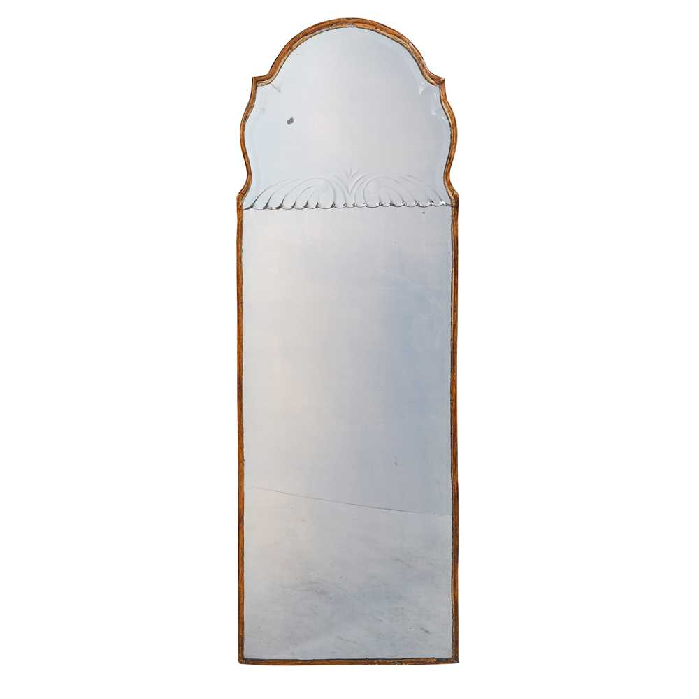 Lot 497 - PAIR OF QUEEN ANNE STYLE PIER MIRRORS