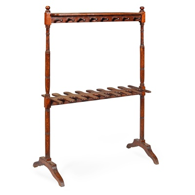 Lot 23-REGENCY MAHOGANY BOOT AND WHIP STAND