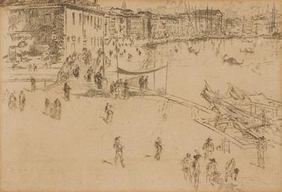 Lot 29 - JAMES ABBOTT MCNEILL WHISTLER (AMERICAN 1834-1903)