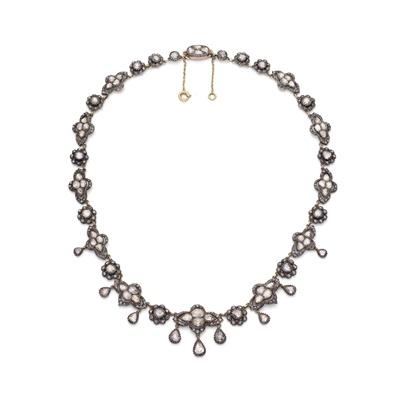 Lot 126 - A mid 19th century diamond necklace