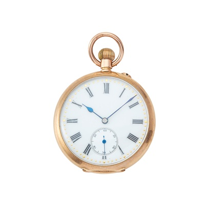Lot 276 - A lady's 9ct gold cased fob watch