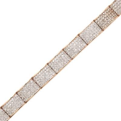 Lot 118 - A 9ct gold diamond set bracelet