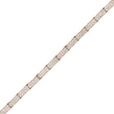 Lot 75 - A 9ct gold diamond set bracelet