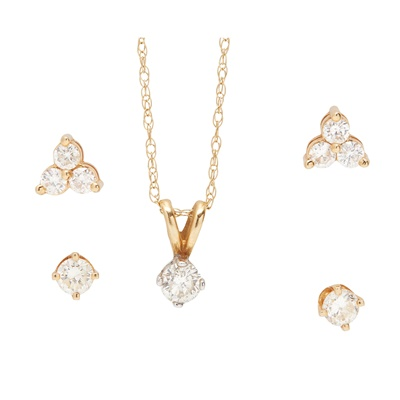 Lot 18-A collection of diamond set jewellery