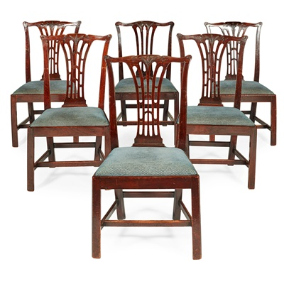 Lot 74 - MATCHED SET OF EIGHT GEORGE III MAHOGANY DINING CHAIRS