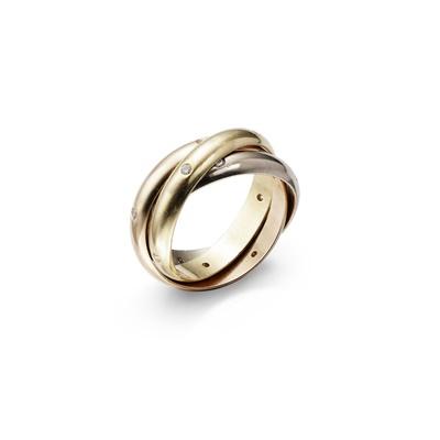 Lot 130 - A diamond-set 'Trinity' ring, by Cartier