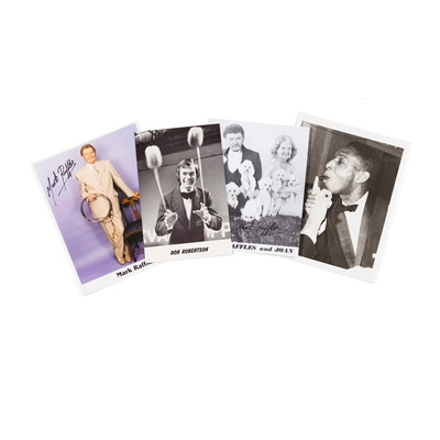 Lot 187 - Collection of Original Photographs of Magicians, mostly signed for Don Connely