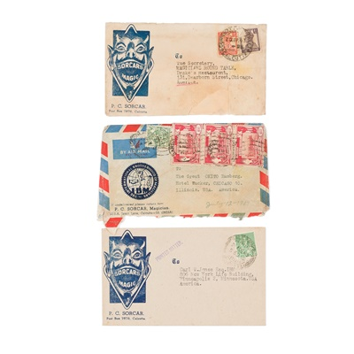 Lot 185 - American Magicians's Postal Envelope Fronts & Envelopes