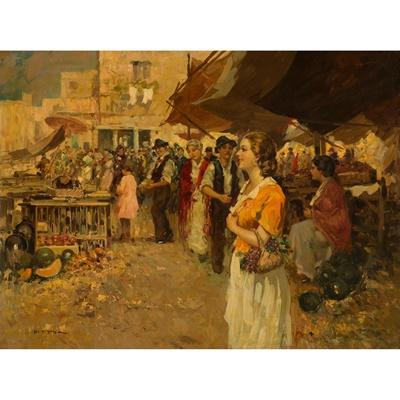 Lot 121 - GIUSEPPE PITTO (ITALIAN 1857-1928)