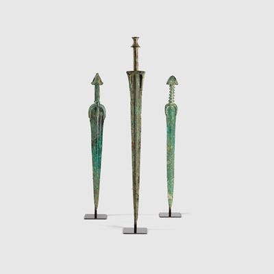 Lot 47 - TRIO OF NEAR EASTERN SWORDS
