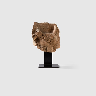 Lot 18 - HELLENISTIC HEAD OF A SATYR