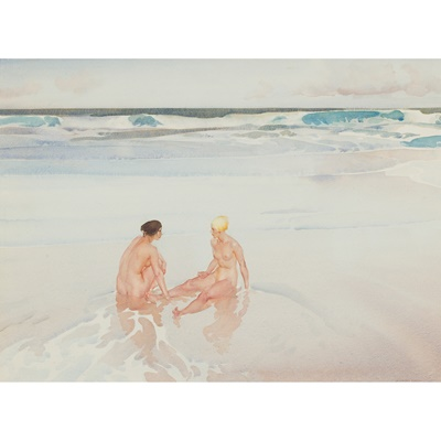 Lot 12-SIR WILLIAM RUSSELL FLINT P.R.A., P.R.W.S., R.S.W., R.O.I., R.E. (SCOTTISH 1880-1969)