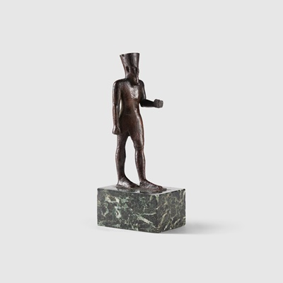 Lot 67 - ANCIENT EGYPTIAN FIGURE OF AMUN