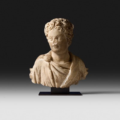 Lot 79 - ROMAN BUST OF A YOUNG MAN